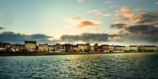Bournemouth al atardecer