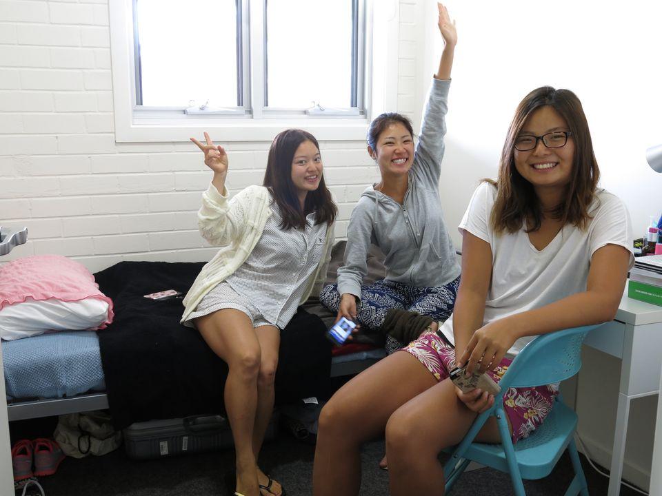 alumnas en habitación individual