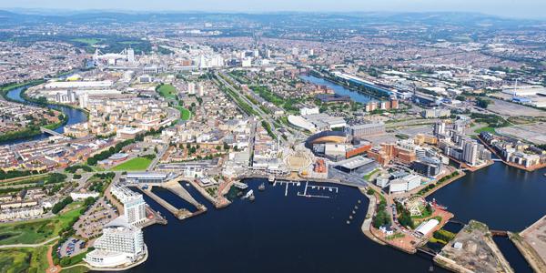 Cardiff desde el aire