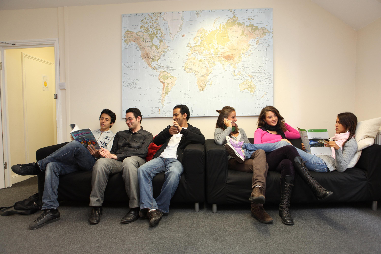 zona común de los estudiantes