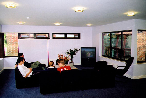 Sala de estar común de la residencia en Chichester