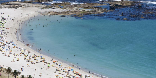 Vista aérea de las playas de Cape Town