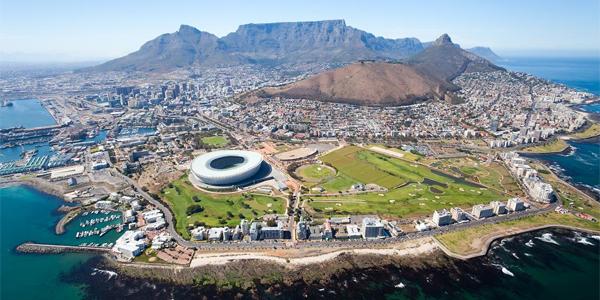 Vista aérea de Ciudad del Cabo