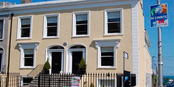 El edificio de nuestra escuela en Dublin Dun Laoghaire.