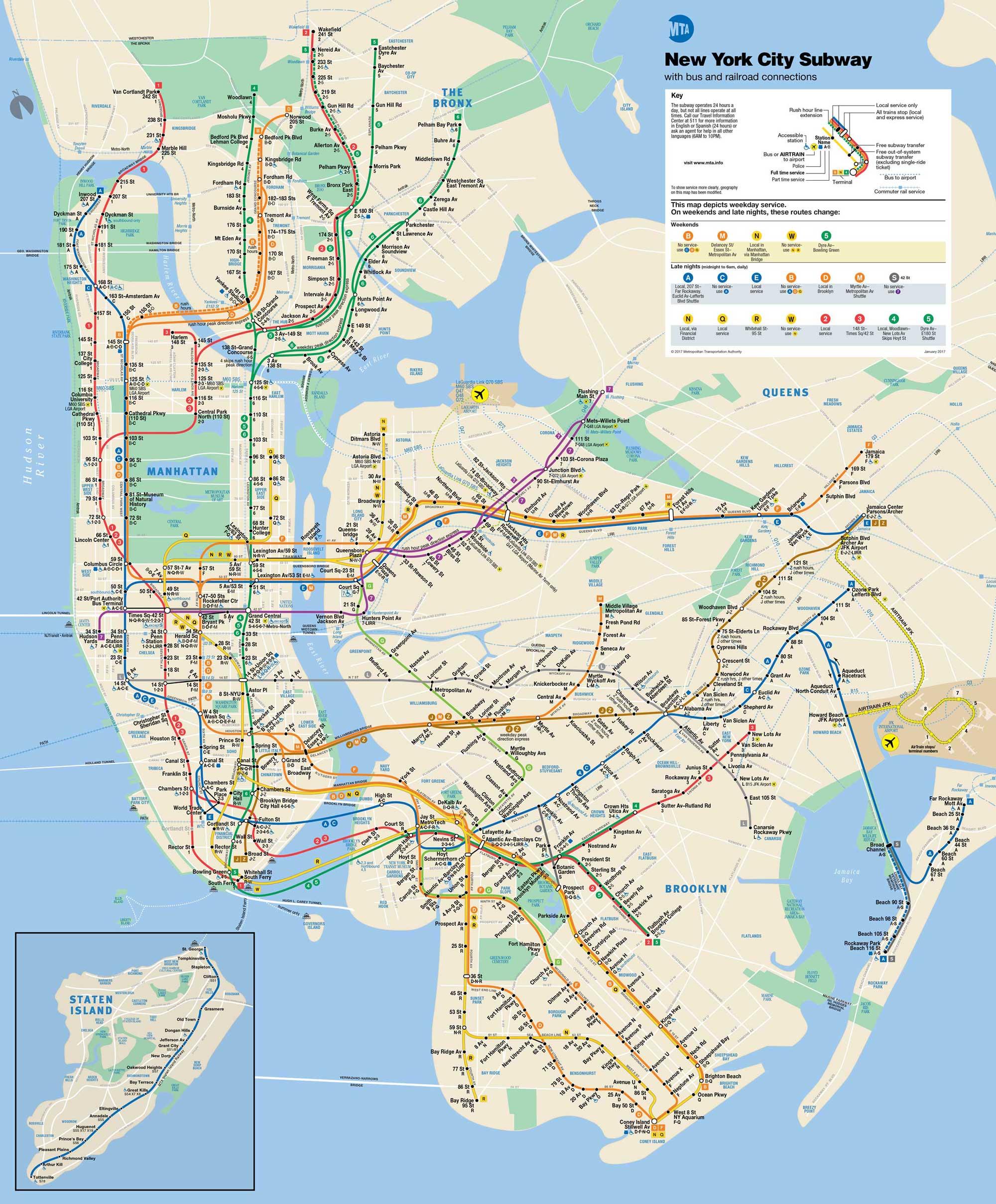 mapa metro NY