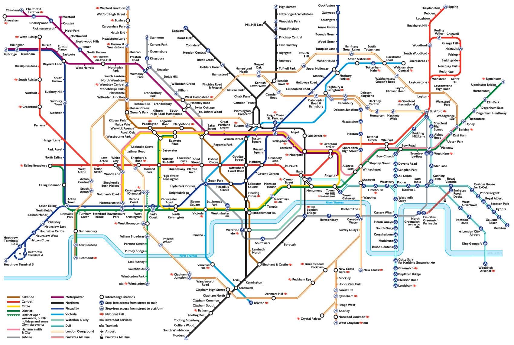 MAPA METRO LONDON