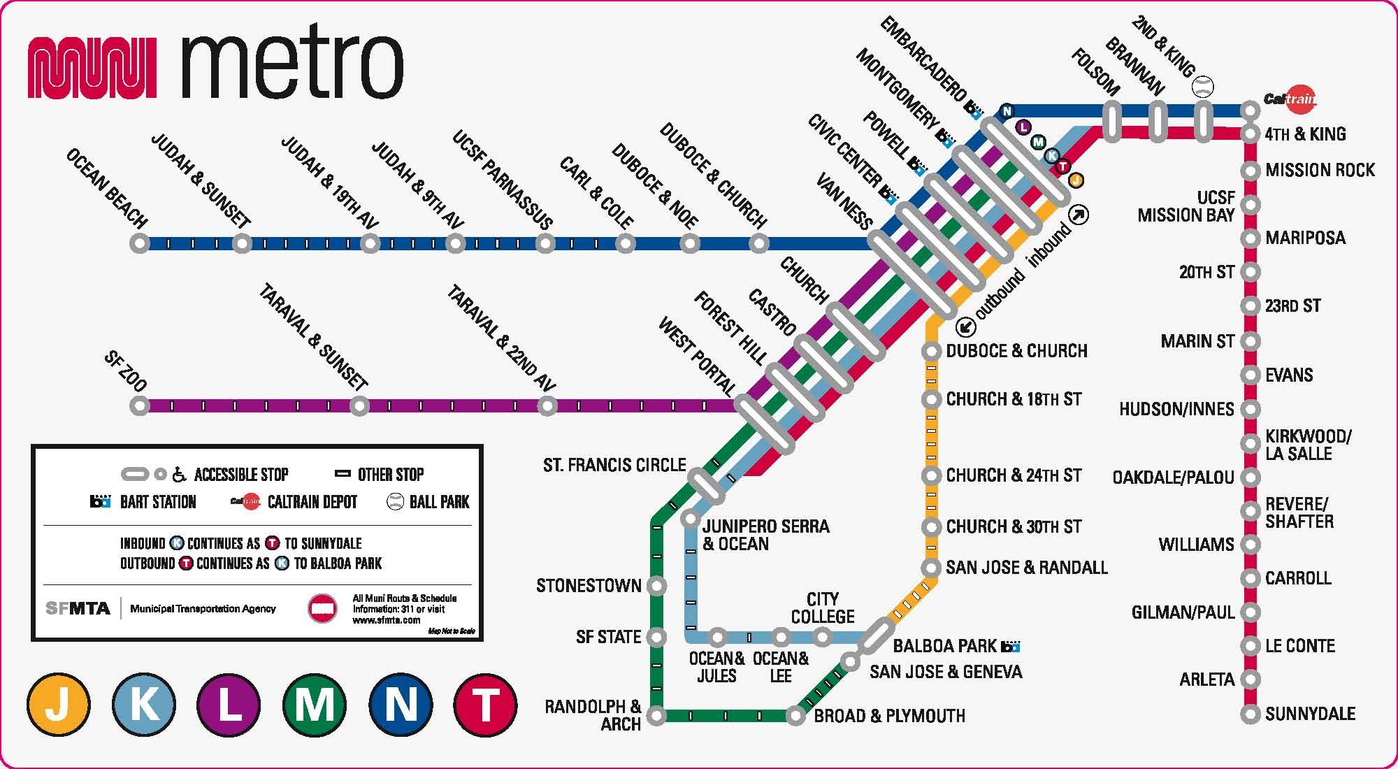 SF metro map