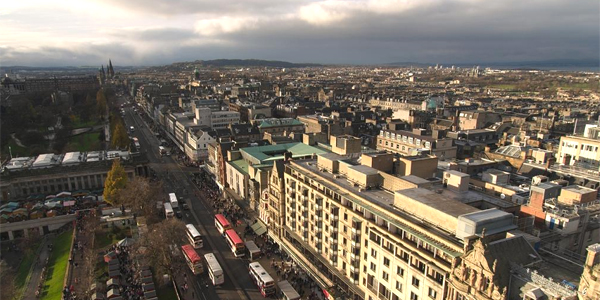 Vista aérea de Edimburgo