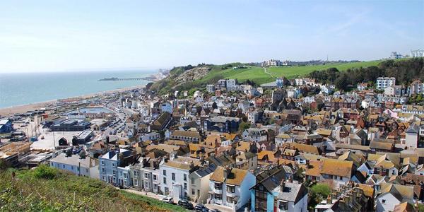 Vistas de Hastings desde lo alto