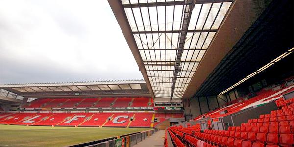 Anfield, el estadio del Liverpool F.C