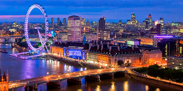 Vista de Londres por la noche