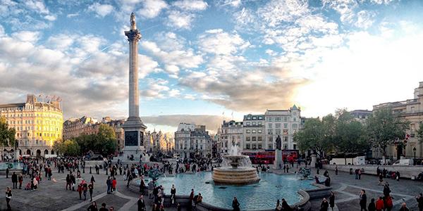 Panorámica de Trafalgar Square