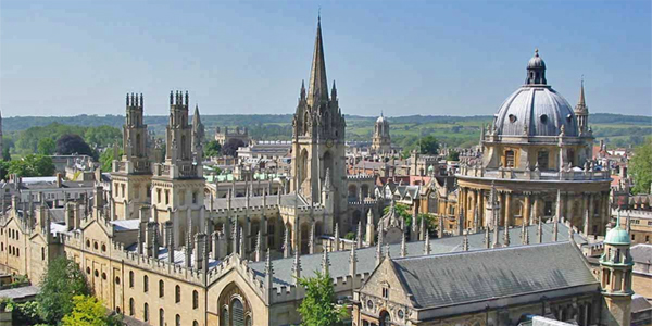 Vista de la universidad de Oxford