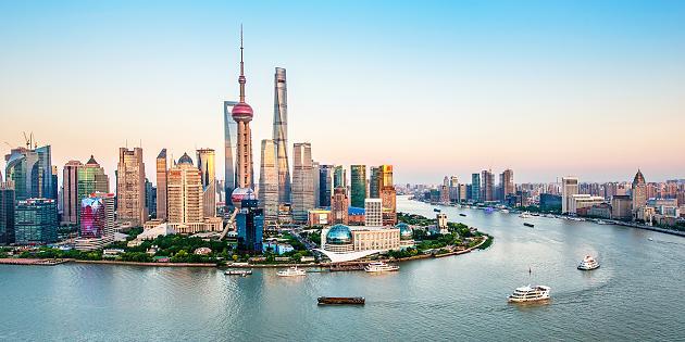 El río Hangpu a su paso por Shanghai