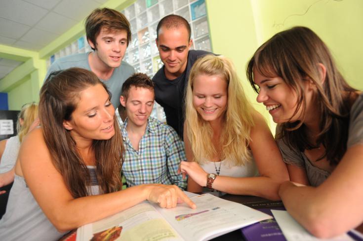 Estudiantes en Sliema