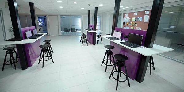 Área común de nuestra escuela en Malta
