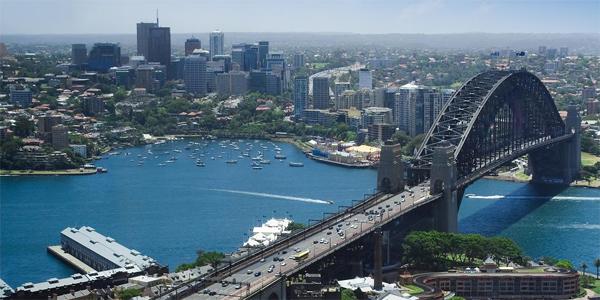 Vista aerea de Sydney