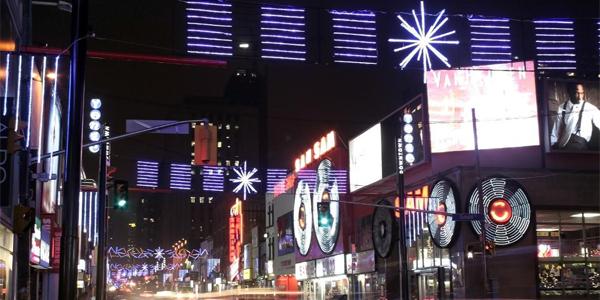 Yonge St at night