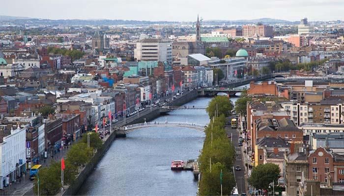 Vista aérea de Dublín