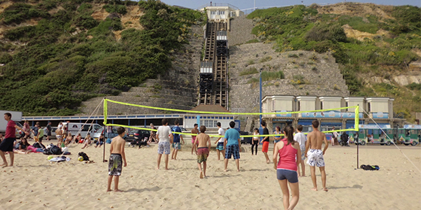 Volley en la playa de Borunemouth