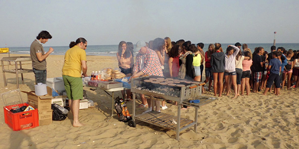 Barbacoa en la playa de Bournemouth