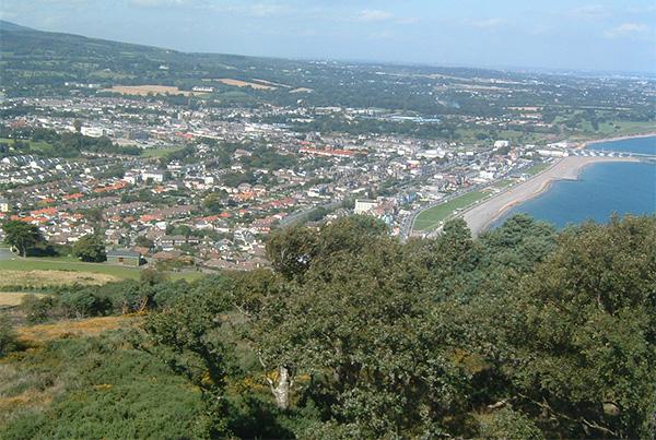 Vista aérea de la ciudad de Bray