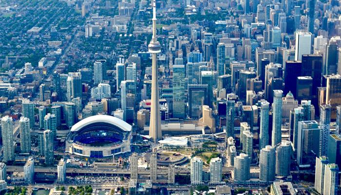 Vista aérea de Toronto