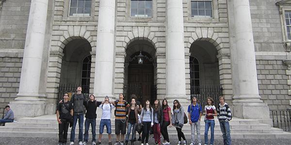 Nuestros chicos frente al Trinity College