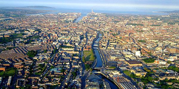 Dublin vista aérea