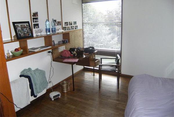 Disposición de habitación individual en nuestra residencia en Dublín