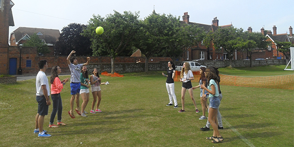 Jugando en Eastbourne