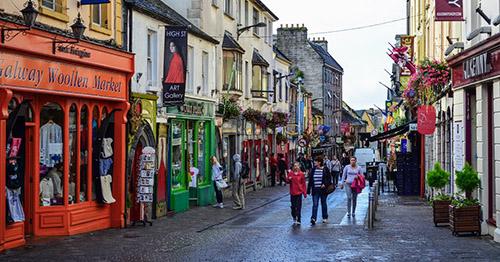 Calles del centro de Galway