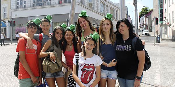 Grupo de estudiantes en Gorey