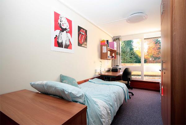 Vistas habitación individual de la residencia