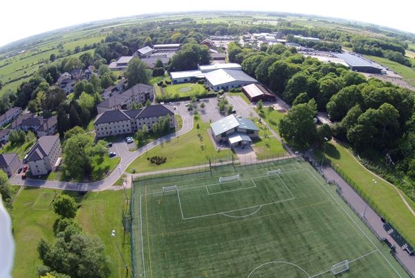 Vista aerea del campus de Myerscough