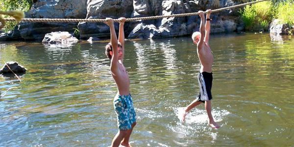 Actividades en el río con los chavales