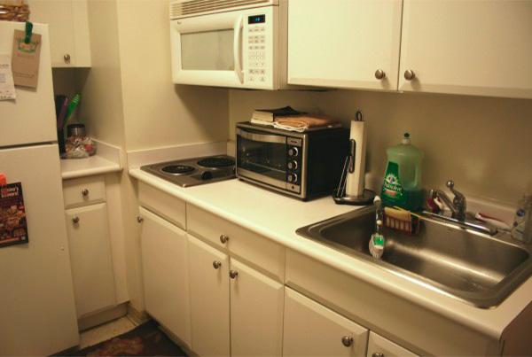 Cocina compartida de la residencia