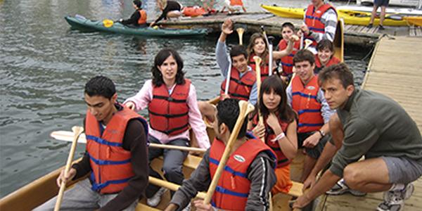Actividad en kayak