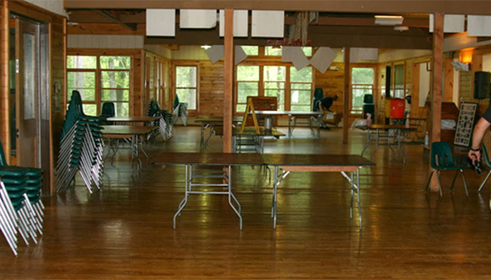 USA Camp interior cabaña