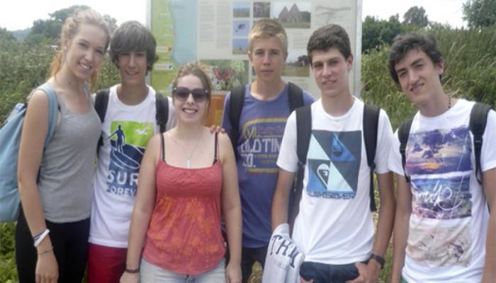 Grupo de estudiantes en Greystones